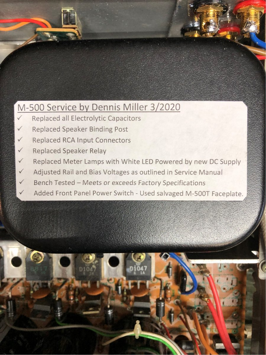Recapped/refreshed M500 with front-panel power switch